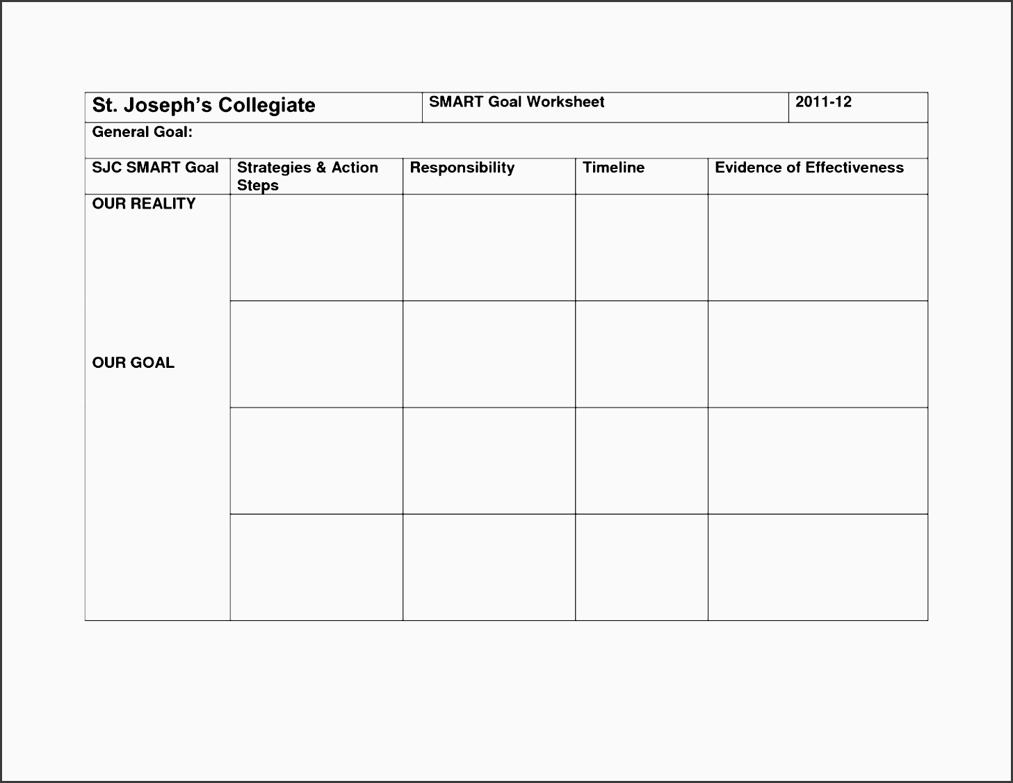 7 Action Plan Template