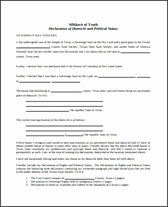 6 Affidavit Form Template In Word - Resume Examples | Resume