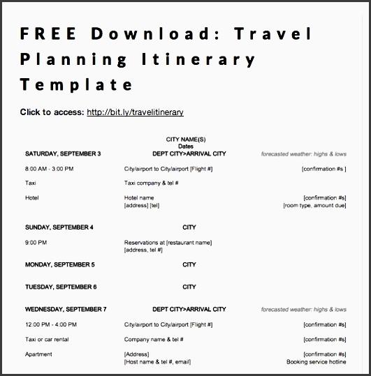 9 Business Travel Plan Format Sampletemplatess