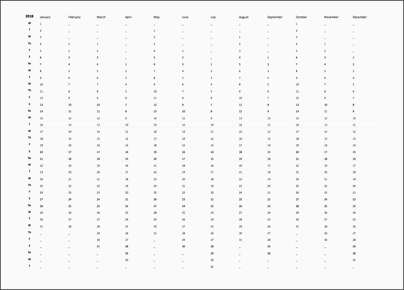 9 College Year Planner Template