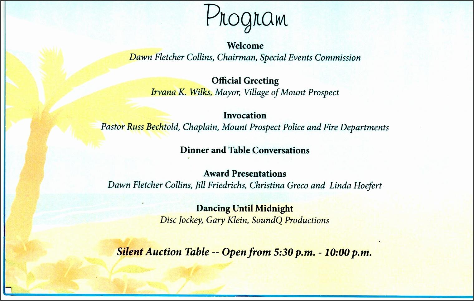 8 Corporate Event Program Template SampleTemplatess