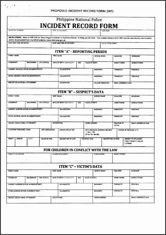official documents template
