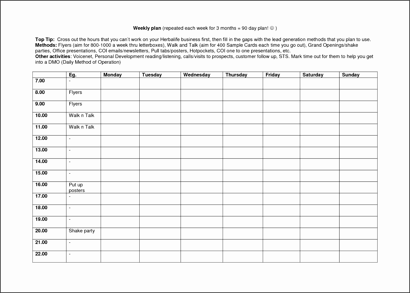 7 Daily Activity Log Guide
