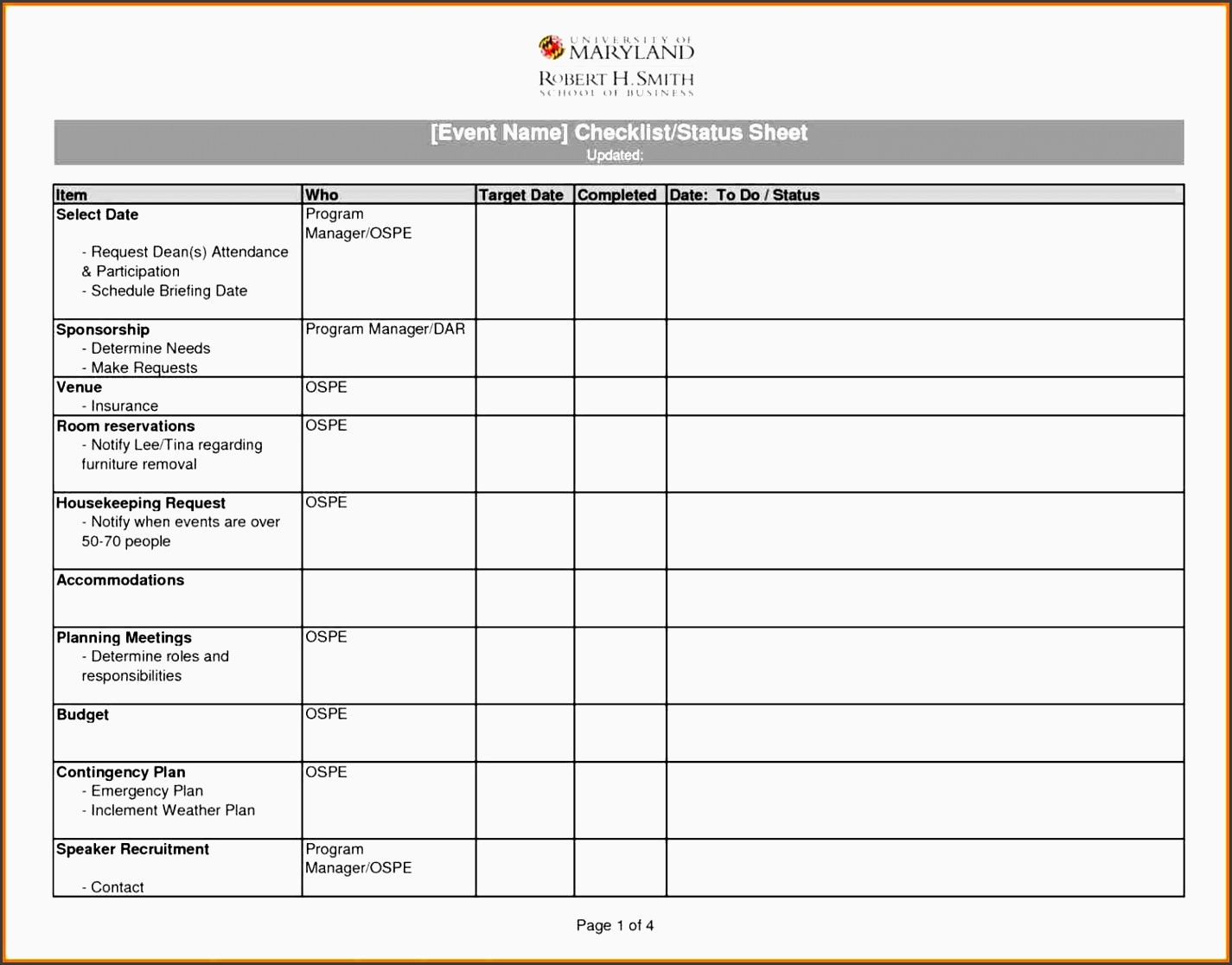 4 Design Free Vacation Itinerary Planner In Excel