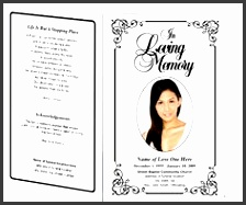 9+ Download Free Funeral Program Template