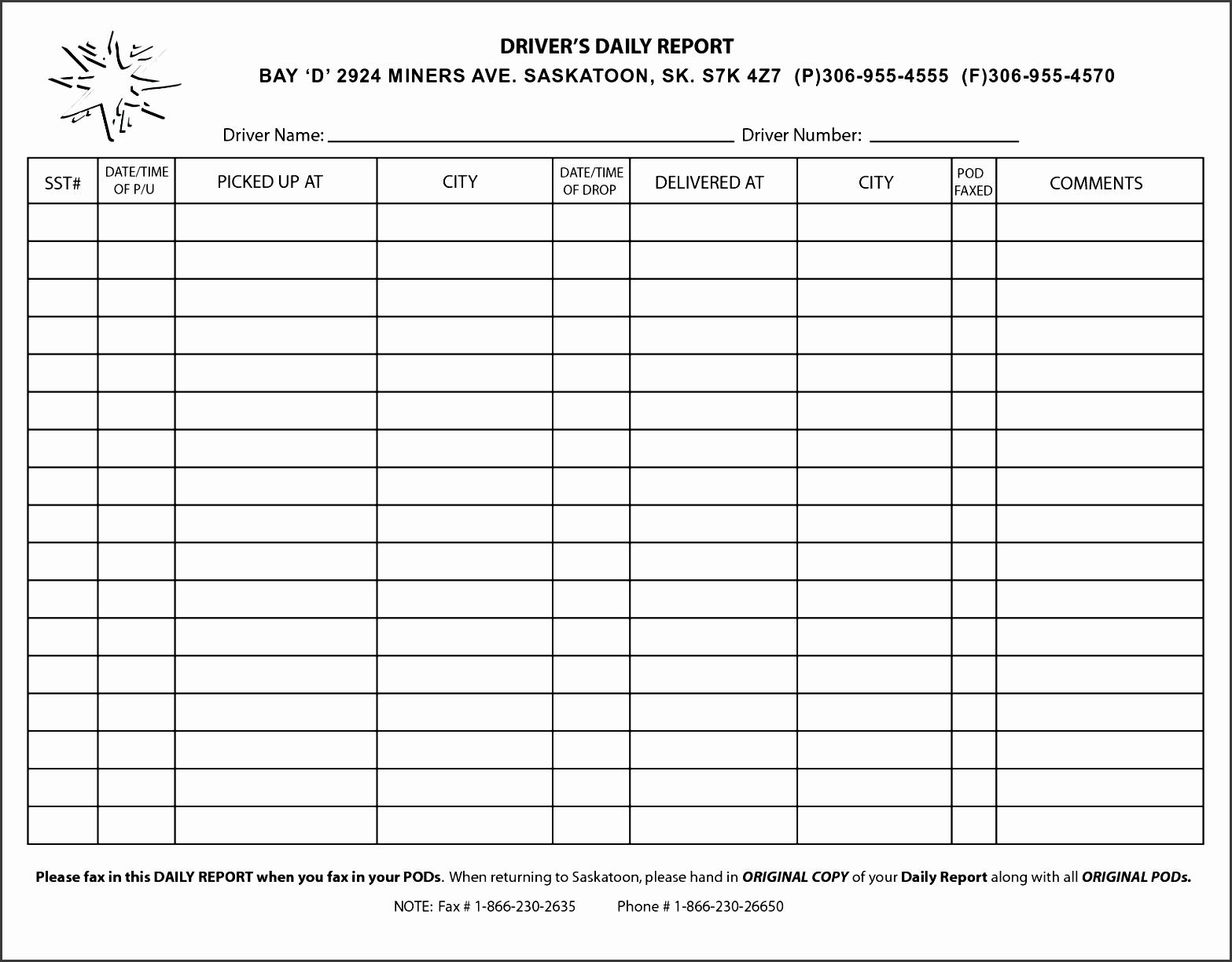 10 Editable Work Log Template