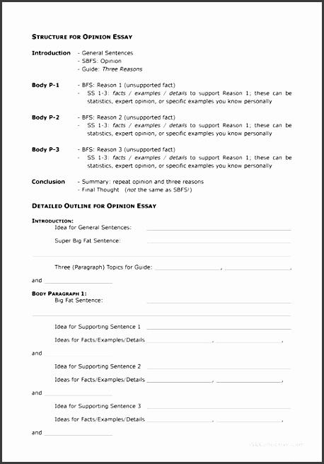 7 Essay Outline Printable