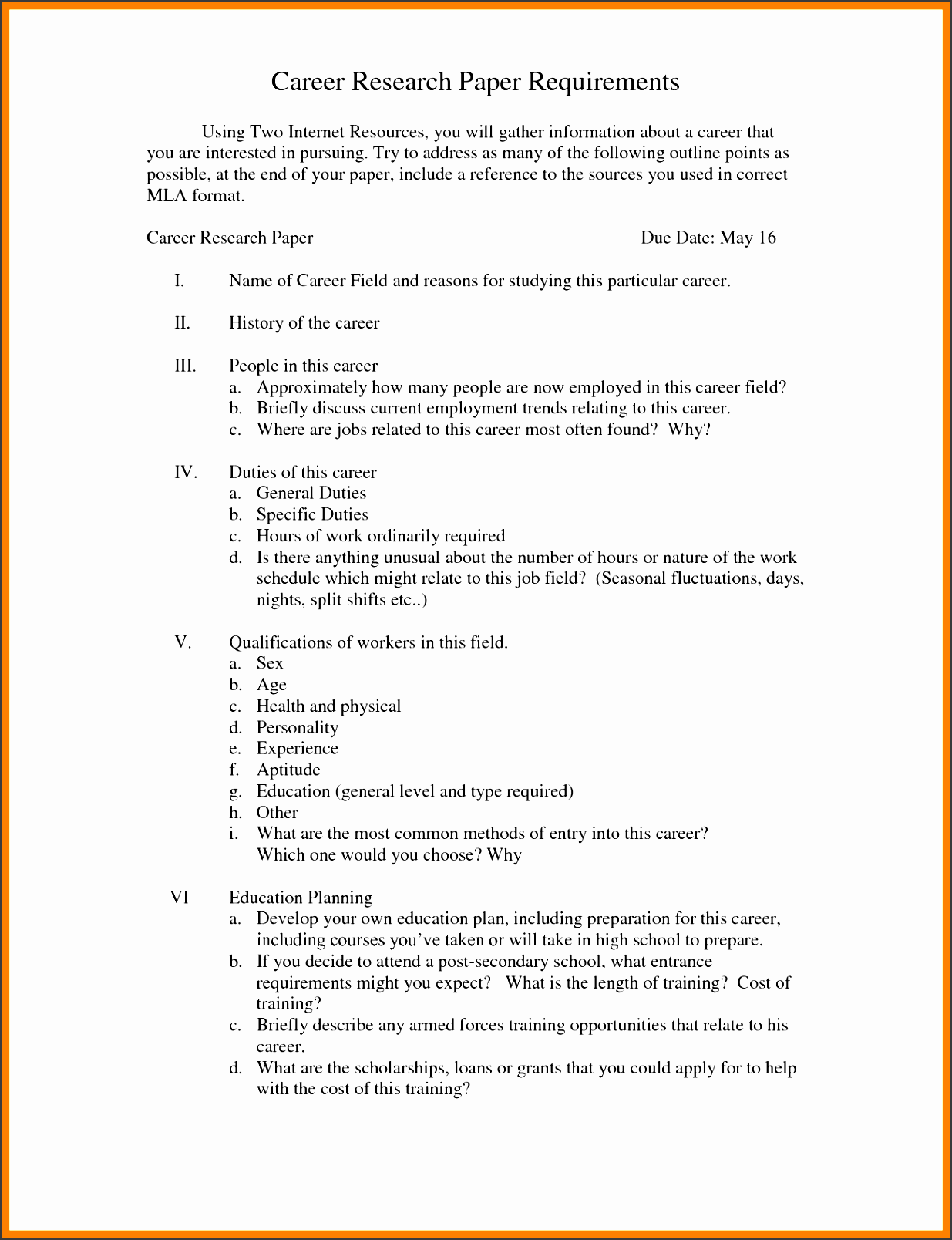 blank research paper outline format
