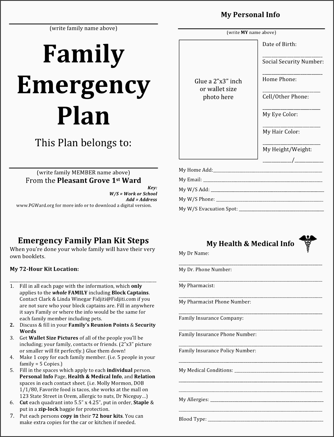 emergency plan diagram 1988 ez go golf cart wiring 5 family layout sampletemplatess
