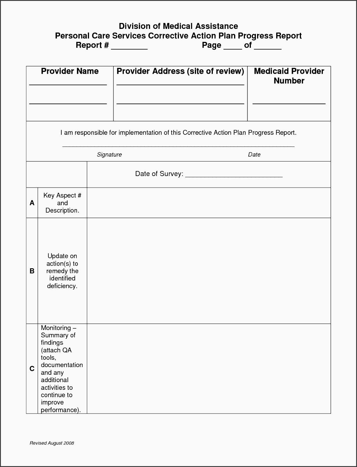 Disciplinary Action Plan Template Calamarislingshotte