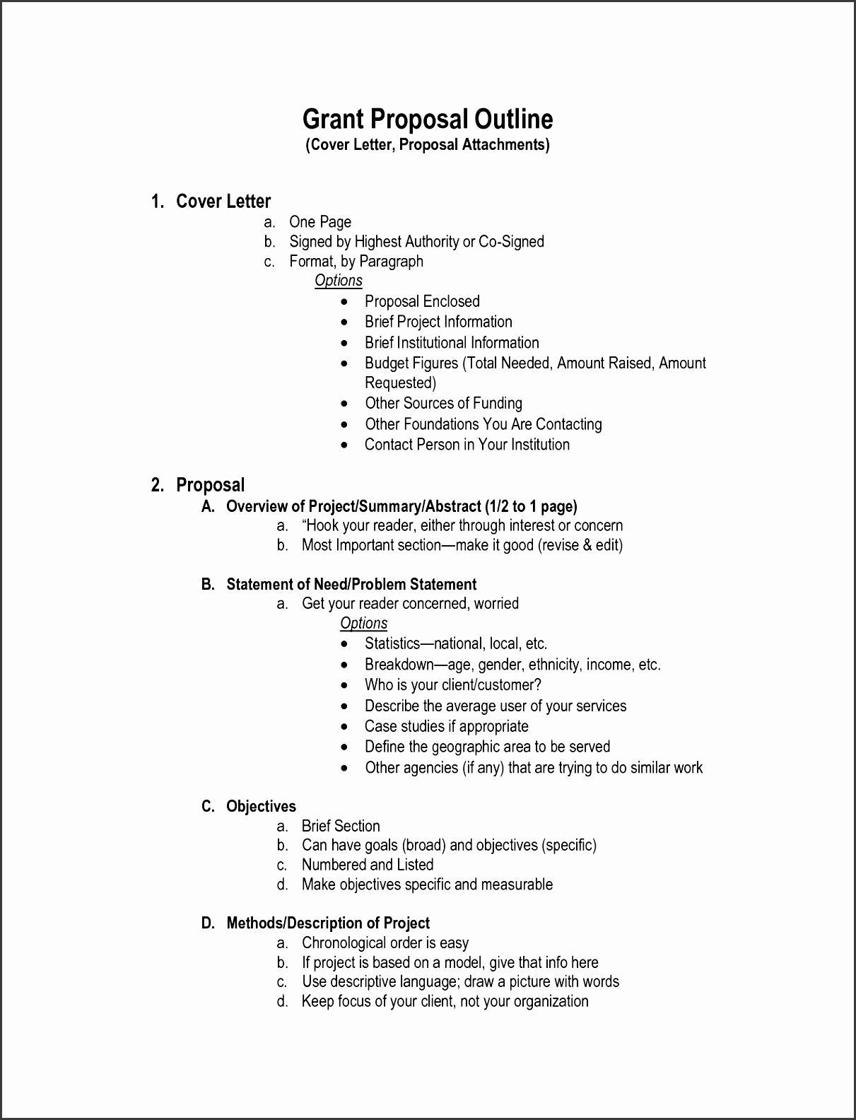 5 How To Make Project Outline