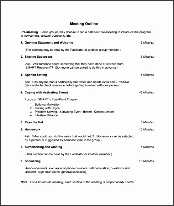 4 Meeting Minutes Outline SampleTemplatess