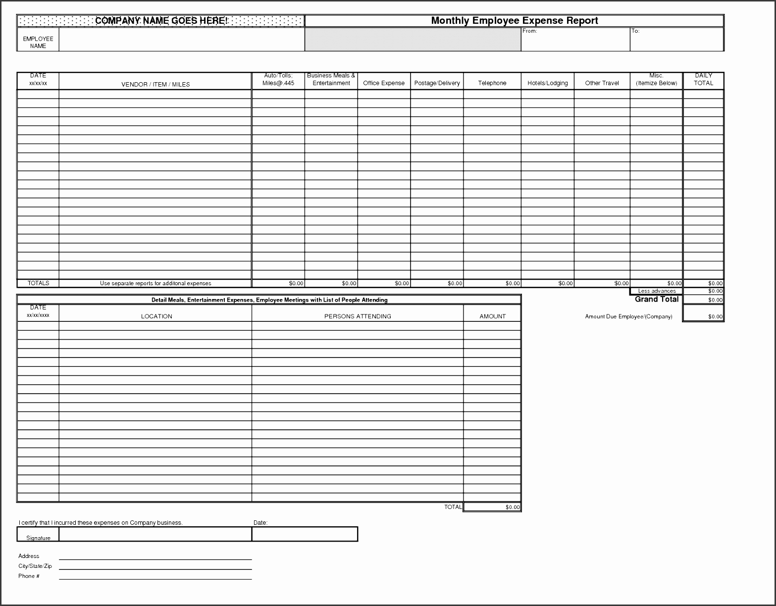 8 Monthly Report Format Template In Excel