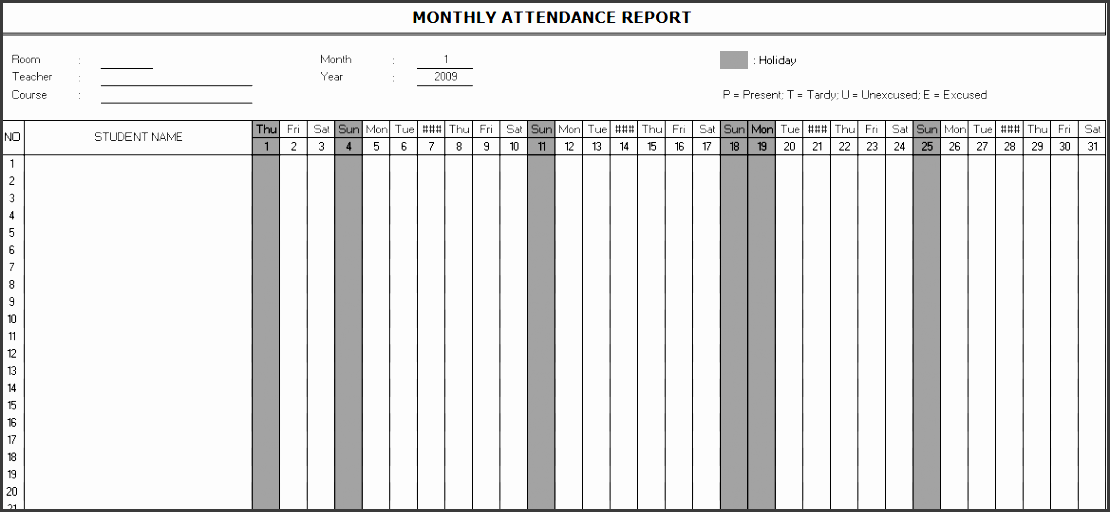 10 Monthly Report format Template In Ms Excel