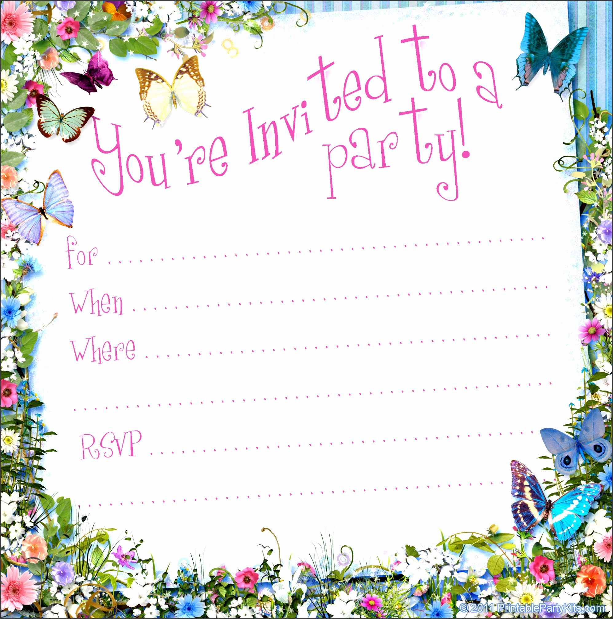 free party invitation templates word