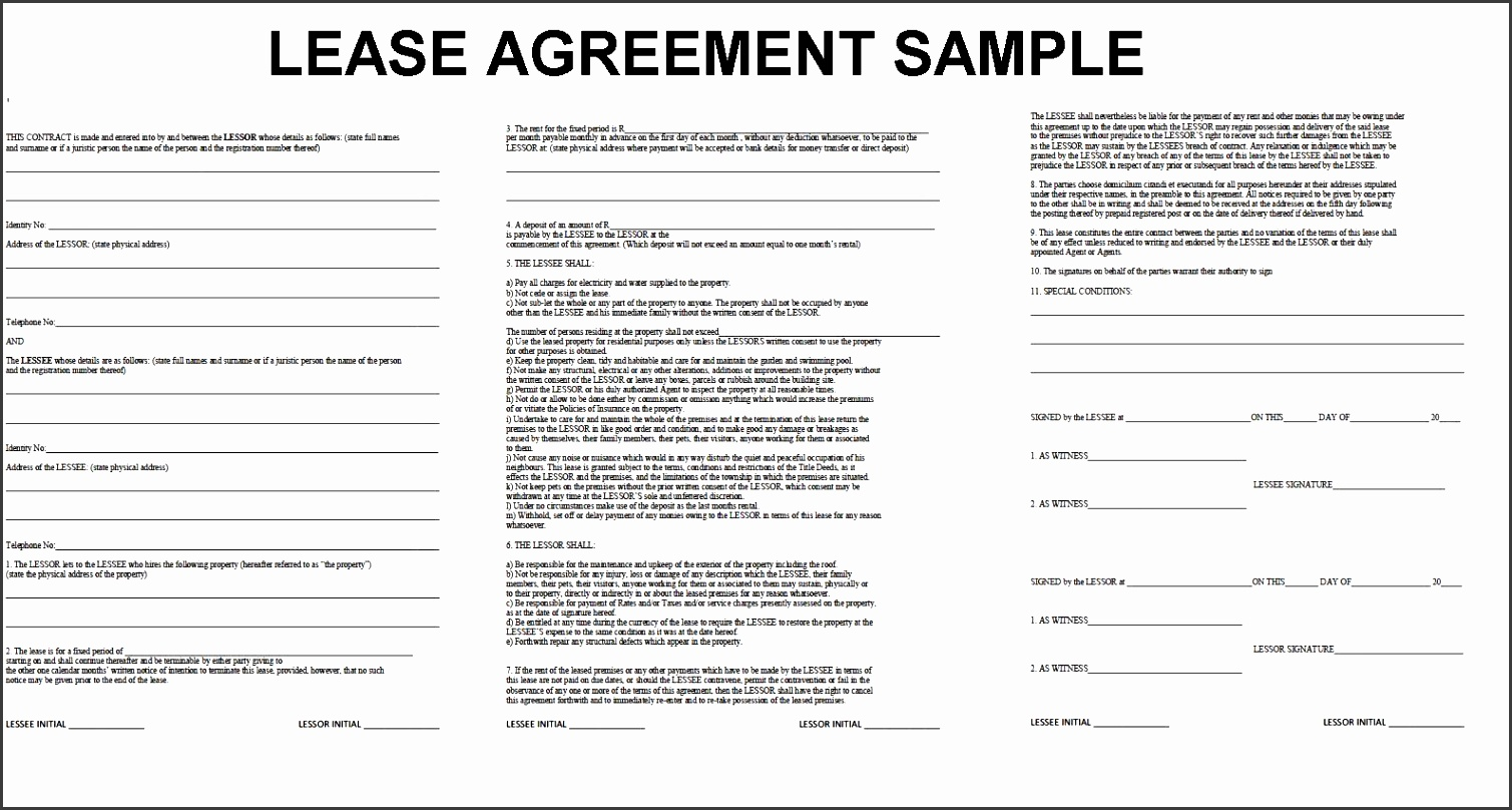 7 Professional tools Rental Agreement Template