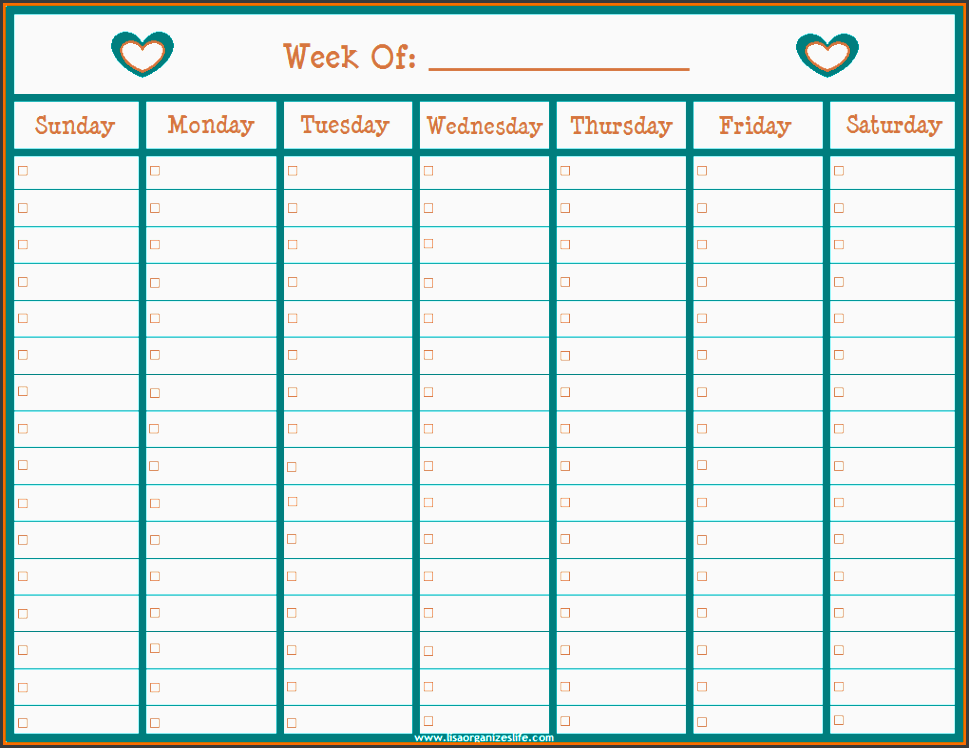 8 Student One Week Planner Template - SampleTemplatess ...