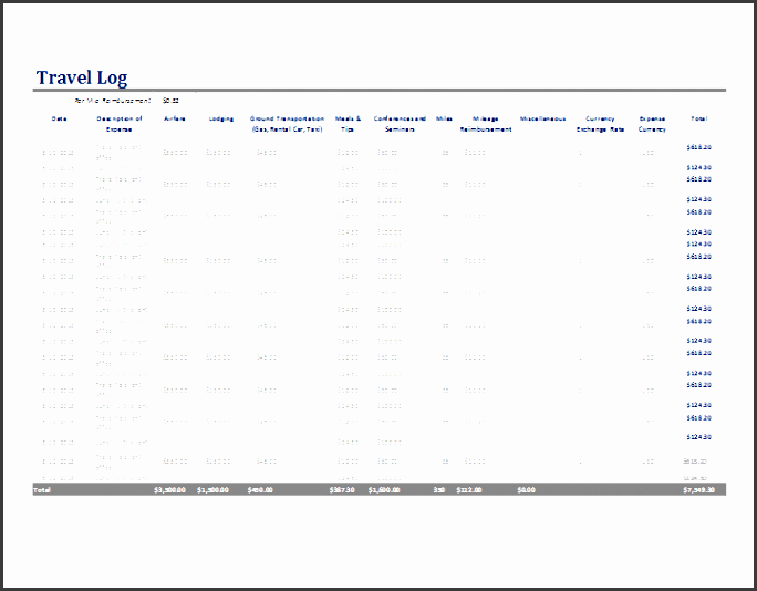 6+ Vehicle Mileage Log Template In Ms Excel