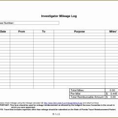 Free Vehicle Expense Log Template Standard 4 Way Trailer Wiring Diagram 43 Mileage In Pdf Sampletemplatess