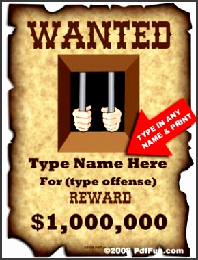 11 Wanted Poster Templates SampleTemplatess SampleTemplatess