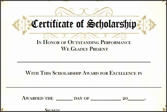 free printable scholarship certificates