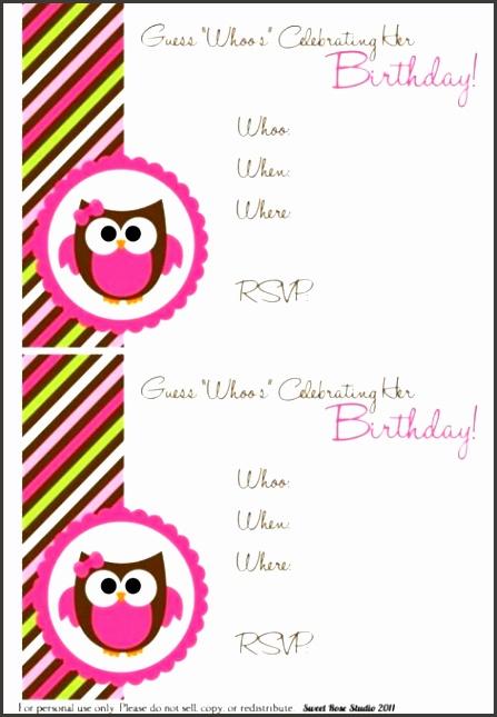 6 Free Printable Birthday Invitation Cards Templates