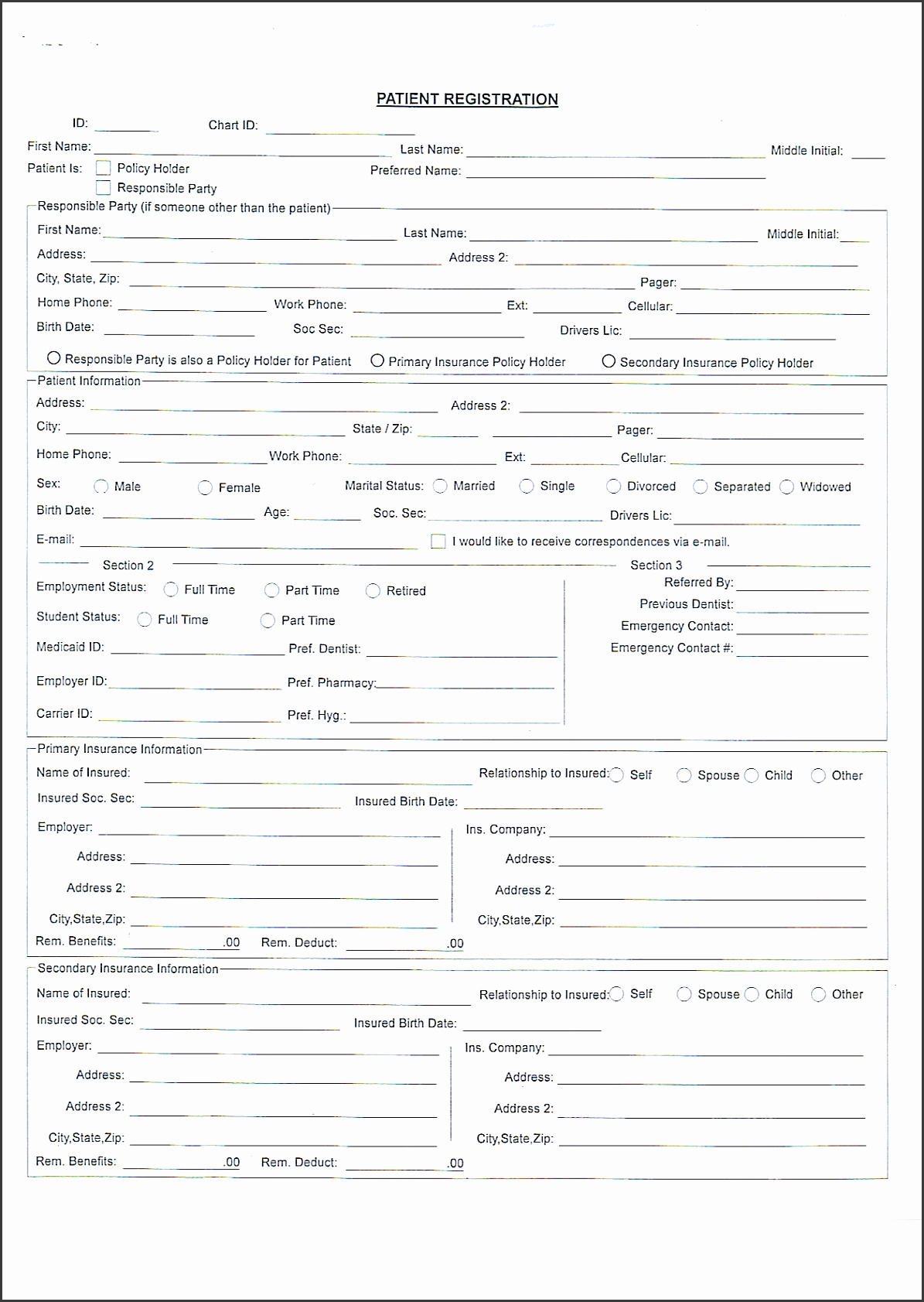 8 New Patient Registration form Template