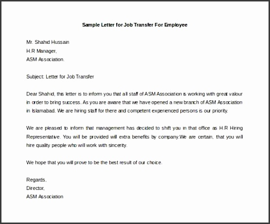 employee relocation letter sample | Poemsview.co
