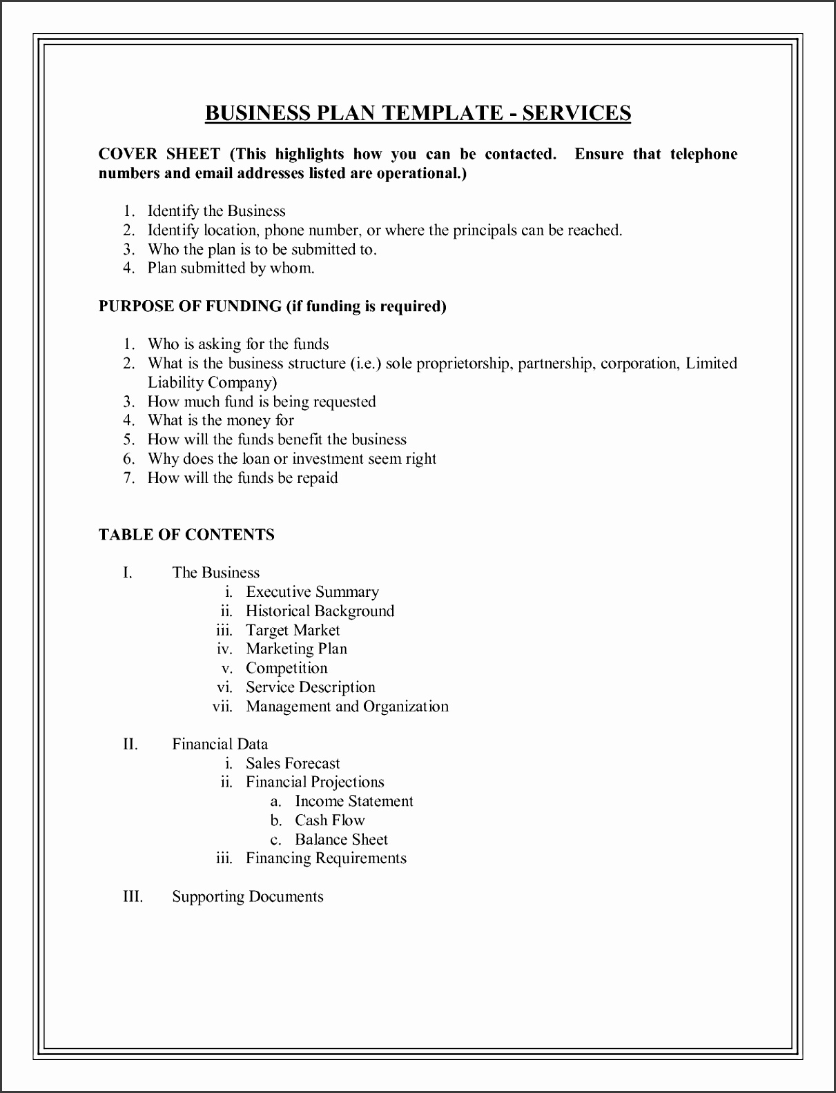 9 Simple Business Plan Template