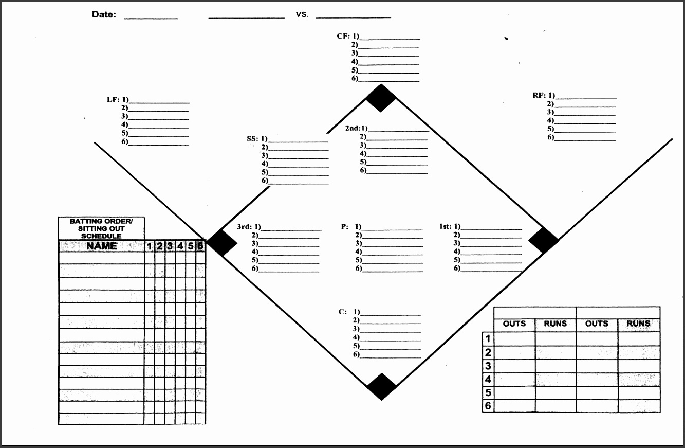 5 Baseball Depth Chart Template