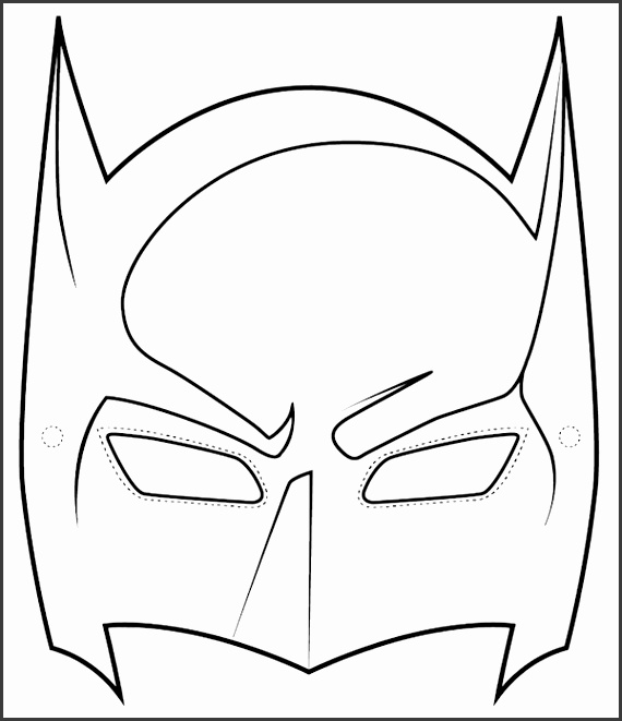 8 Batman and Robin Mask Template SampleTemplatess