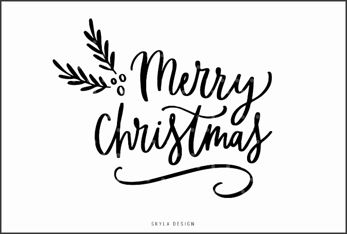 7 Black and White Christmas Templates for Word