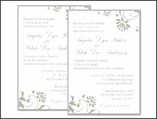 9 Blank Wedding Invitation Templates for Microsoft Word