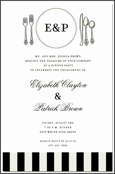 6 Business Dinner Invitation Template Free
