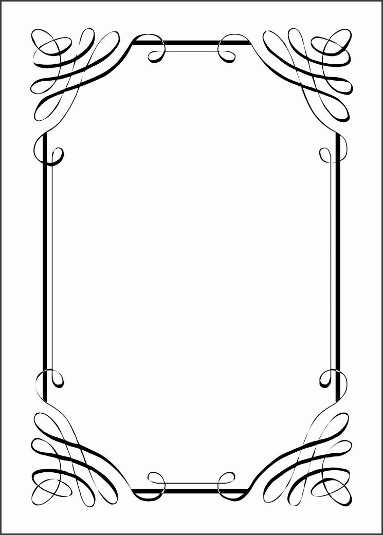 8 formal Invitation Template Black White