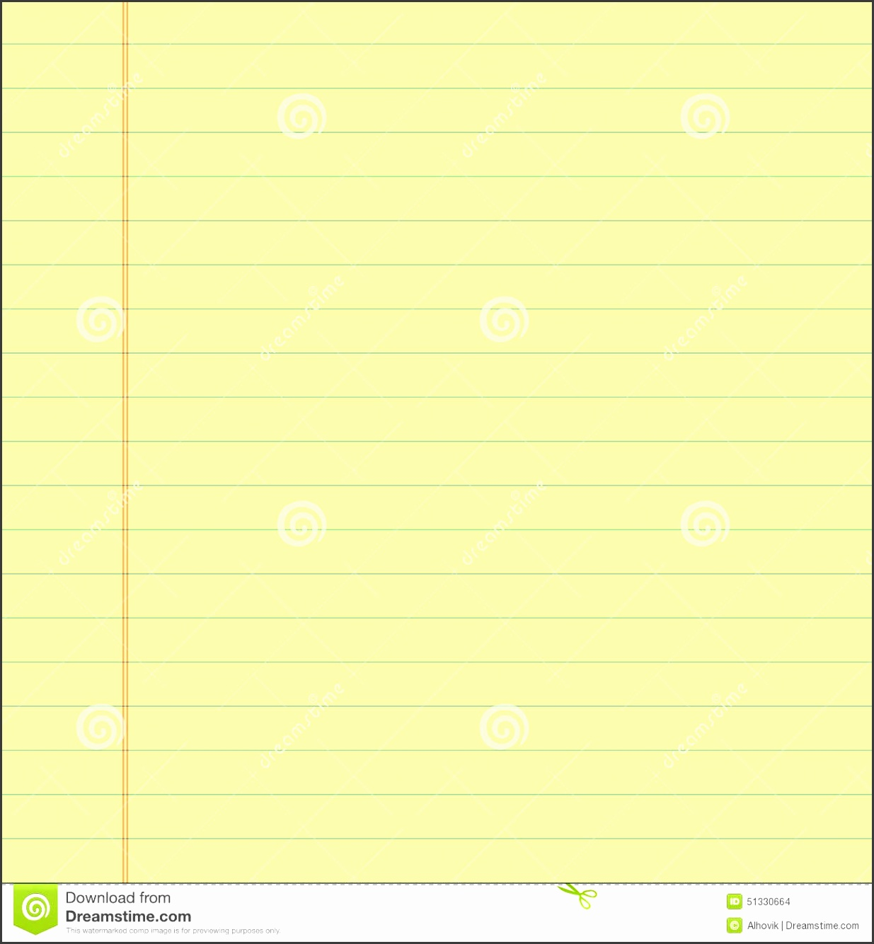 7 Word Lined Paper Template