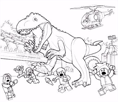 Jurassic World Kleurplaat • Kidkleurplaat.nl