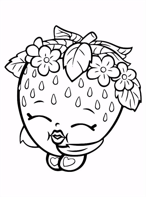 Kleurplaten Shopkins Print Fruit Apple Blossom Shopkins