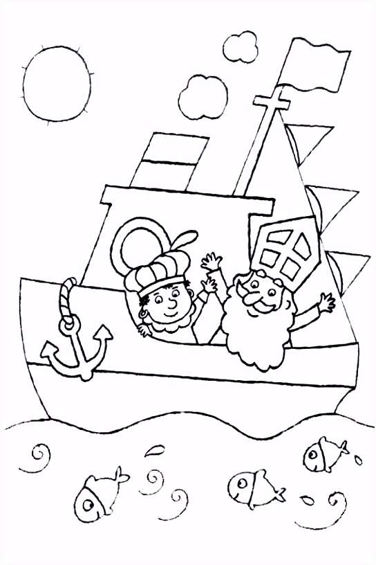 Kleurplaten Sinterklaas Vlaggetjes.Sinterklaas 46 Auto Electrical Wiring Diagram