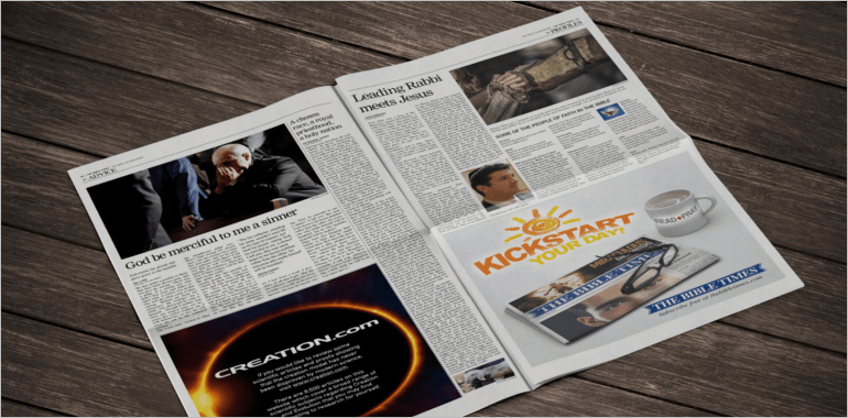 mock newspaper template