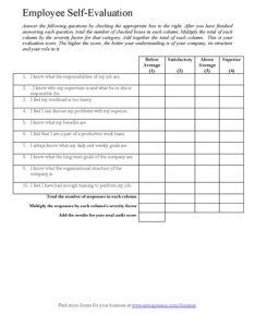 Employee evaluation form also printable template customize rh samplewords