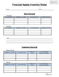 Financial Asset Inventory Form
