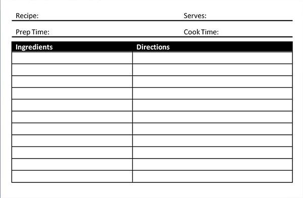microsoft recipe templates