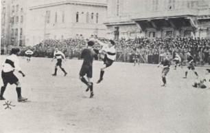 Foto storica derby Sampierdarenese Genoa