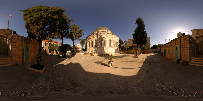 Ethiopian Church :: Jerusalem  :: 360° Panorama