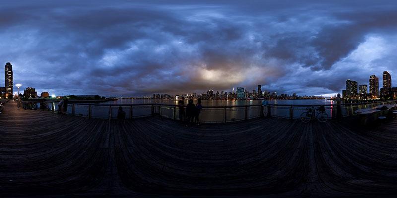 Gantry Plaza - Dusk  :: 360° Panorama