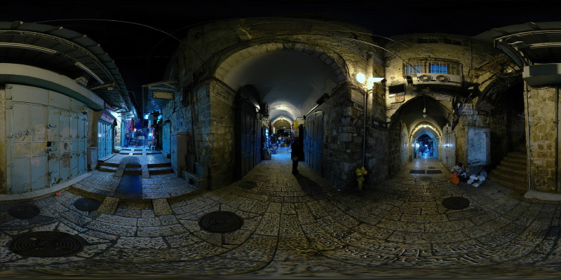 King David Street :: Jerusalem  :: 360° Panorama