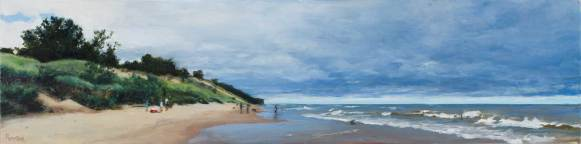 Cloudy Picnic (Central Beach, Indiana Dunes), 18 X 75