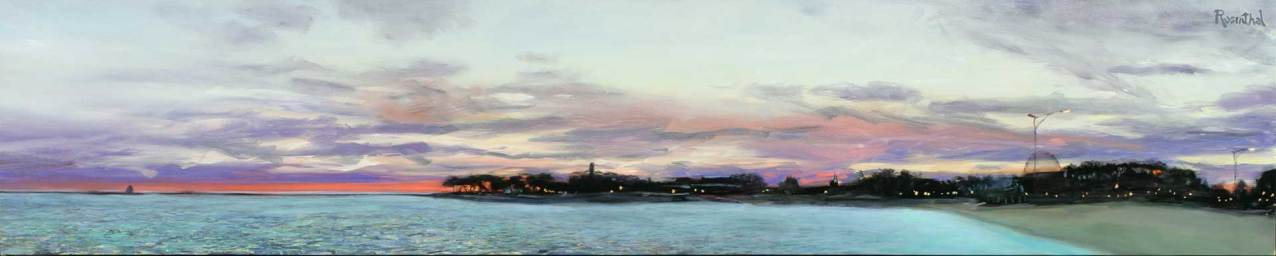 Navy Pier Sunrise, 16 X 80, Sold