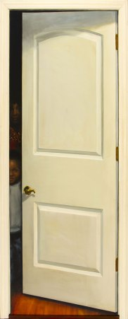 Peeking Through the Doorway, Oil on Board, 82 X 36